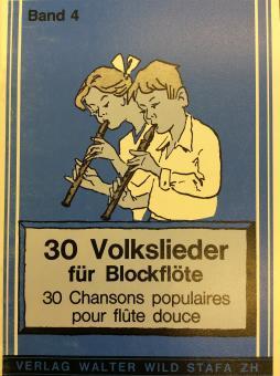 30 Volklieder für Blockflöte