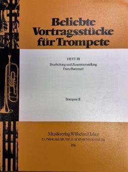 Beliebte Vortragsstücke für Trompete Heft 3 - Trompete 2